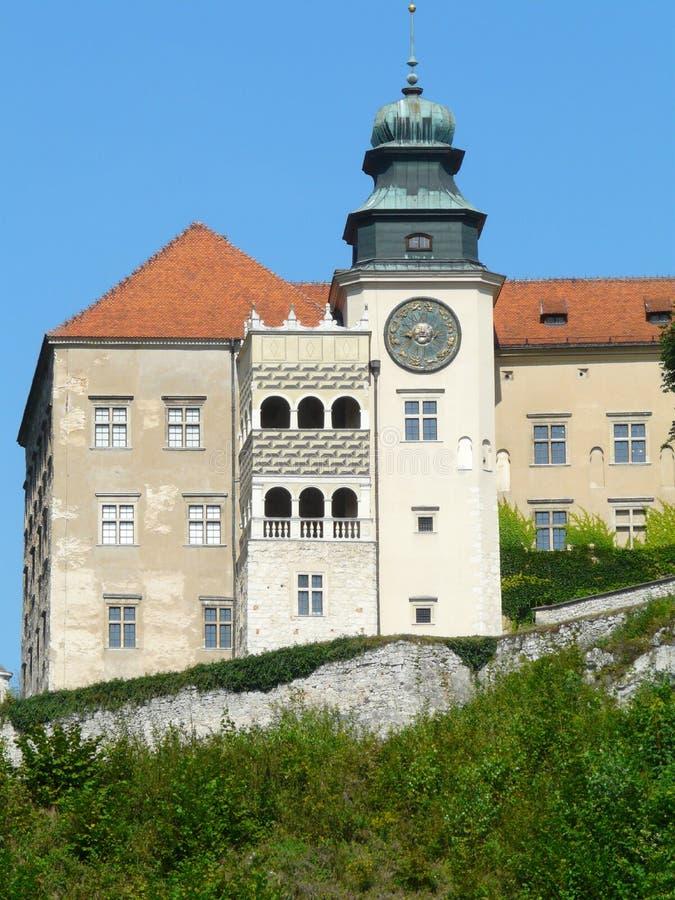 PIESKOWA斯卡瓦,波兰-城堡在克拉科夫琴斯托霍瓦Upla 库存照片