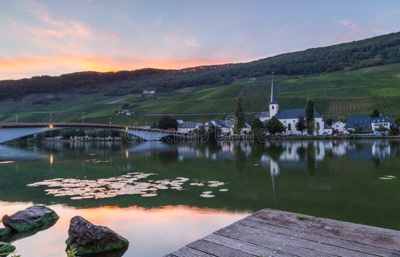 Piesport na Moselle Niemcy zdjęcia stock