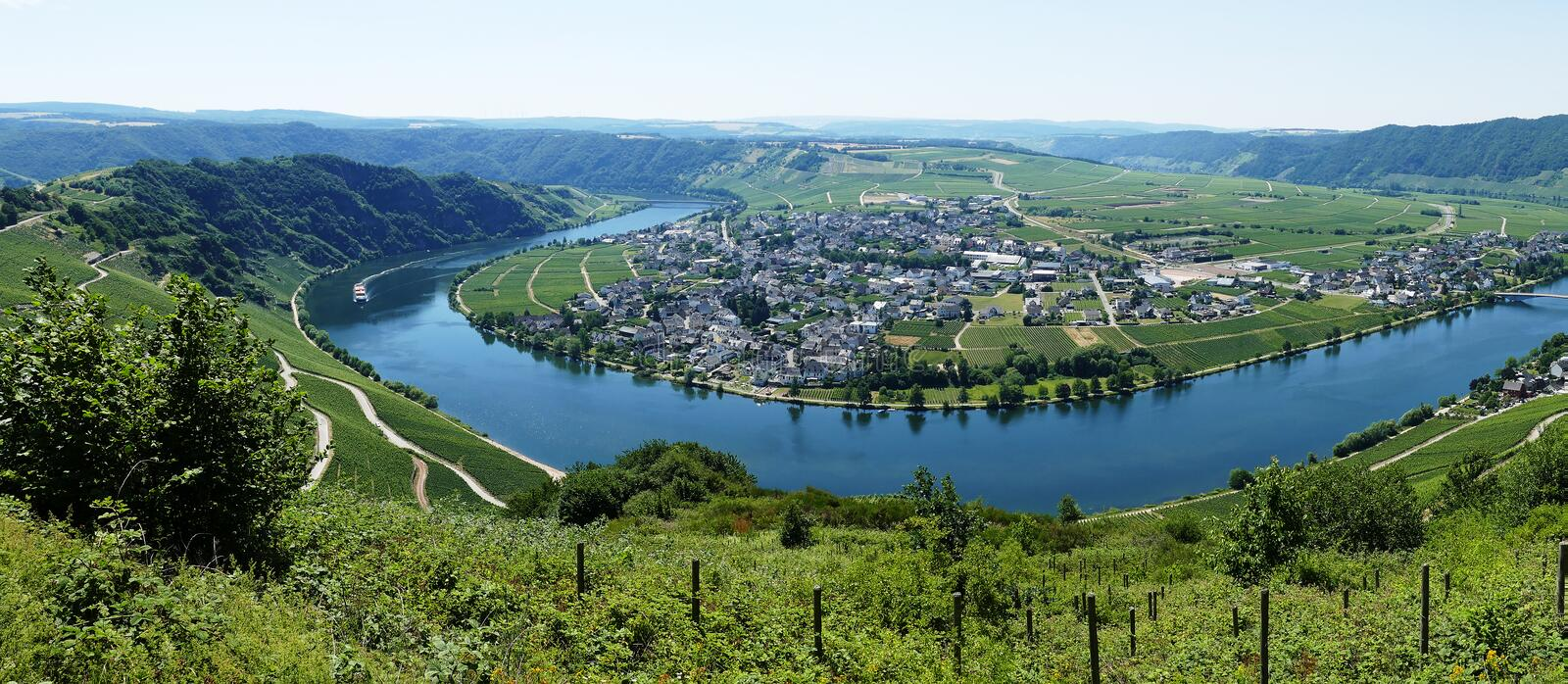Piesport on the river Mosel Germany. Piesport on the river Mosel in Germany royalty free stock images