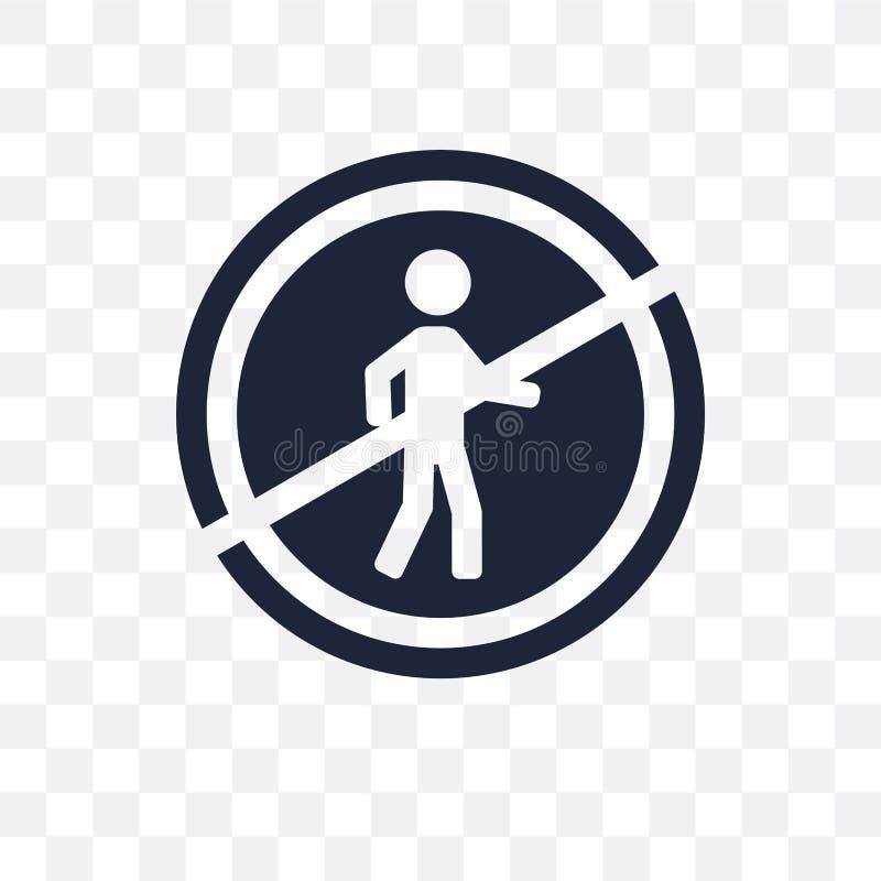 pieszy zabraniająca szyldowa przejrzysta ikona pieszy zabrania ilustracji