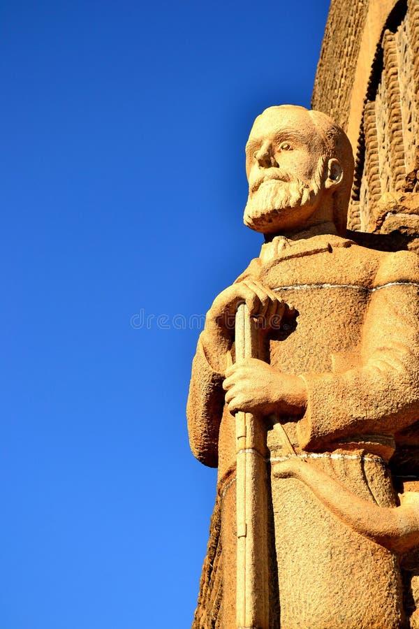 piet retief statua obraz stock