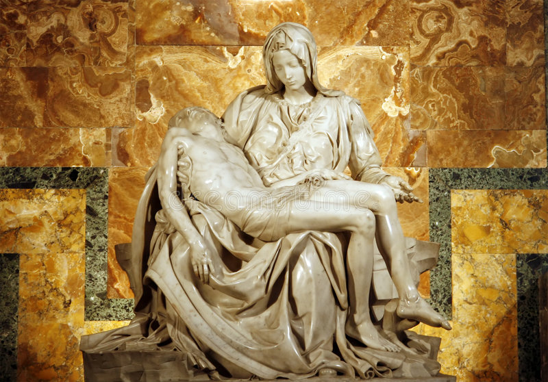 Pieta de Michelangelo imagen de archivo