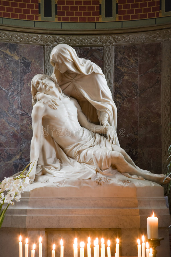 Pieta statue royalty free stock image