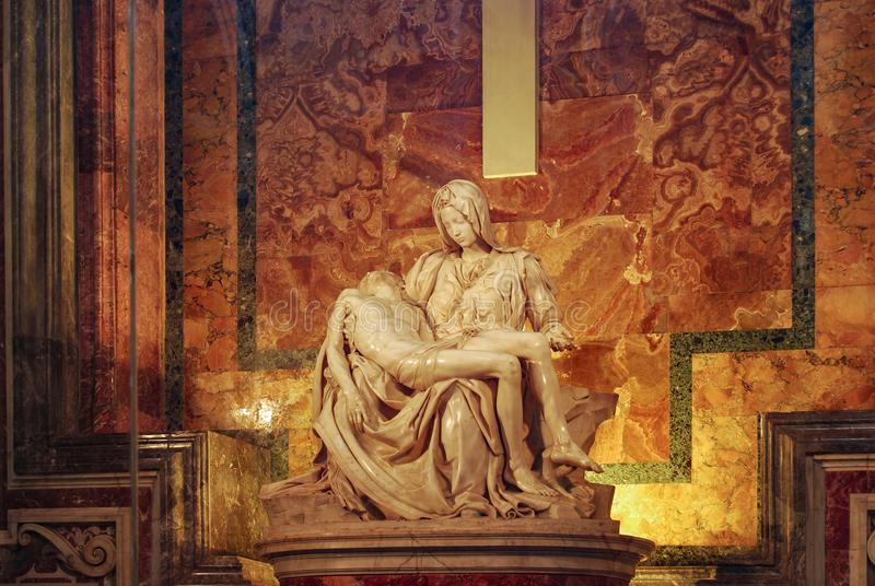 Pieta Sts Peter basilika, Vatican City, Italien arkivbild