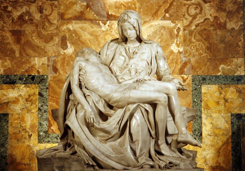 Pieta van Michelangelo stock afbeelding