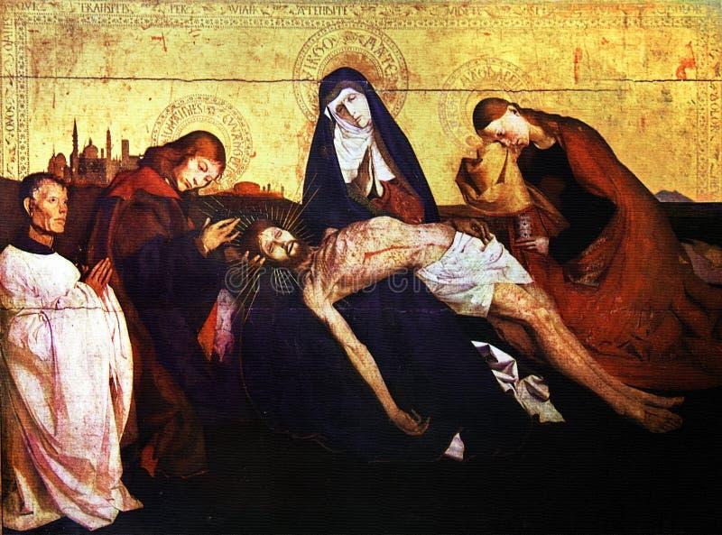Pieta von Avignon lizenzfreie stockbilder