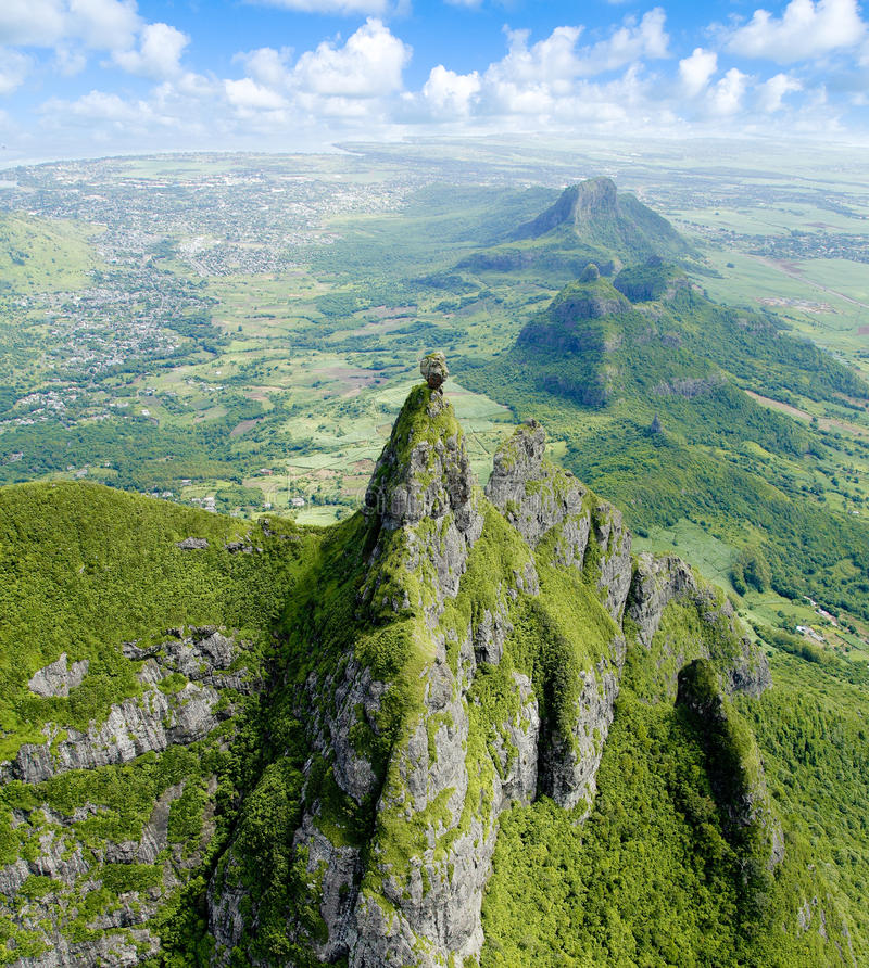 Pieter Both Mountain Mauritius images libres de droits