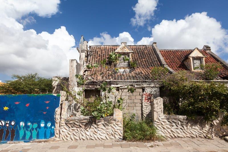 Pietermaai区老房子 库存照片