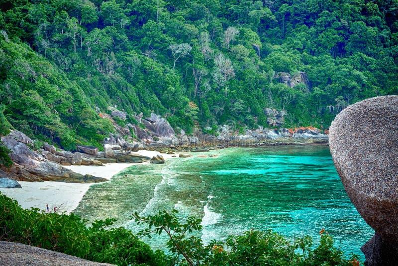 pietra beaty della spiaggia sulla spiaggia fotografia stock