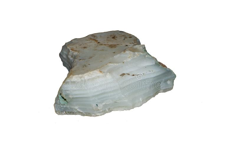 Pietra cruda bianca dell'agata fotografia stock