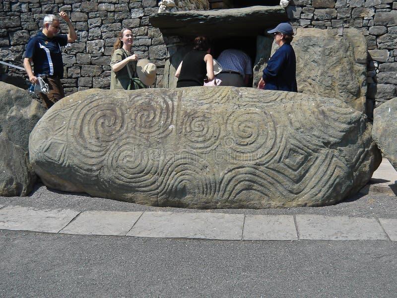 Pietra dell'entrata di Newgrange immagini stock libere da diritti
