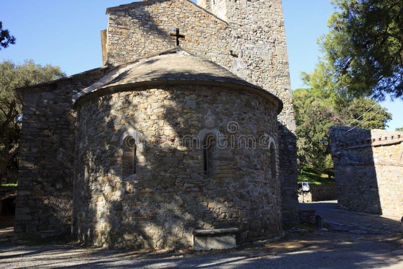 Pietra della chiesa di Sestri Levante, Genova, Liguria, Italia, Europa fotografia stock libera da diritti