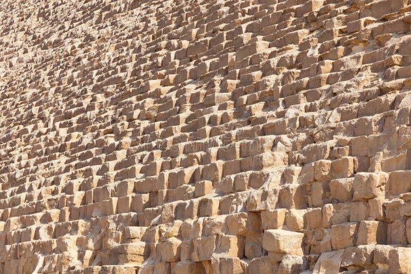 Pietra della piramide di Giza, Egitto fotografia stock