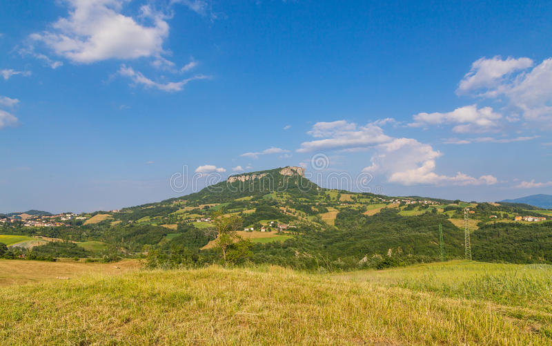Pietra di Bismantova Emilia Romagna Italy foto de archivo