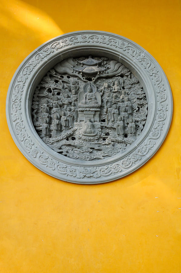 Pietra di Buddha che scolpisce Lingyin Temple Hangzhou fotografie stock libere da diritti