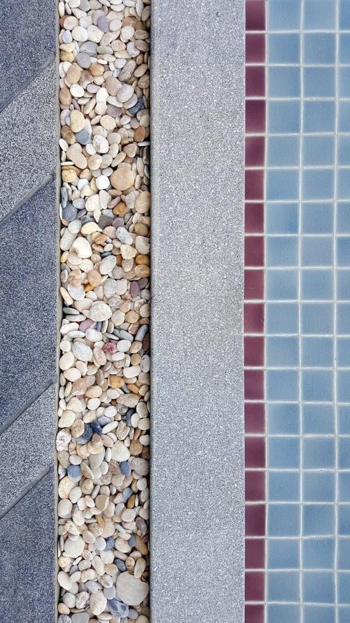 Pietra lavata e struttura del pavimento della ghiaia fotografie stock libere da diritti