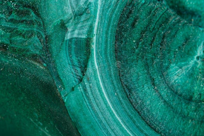 Pietra minerale della macro malachite su fondo bianco fotografia stock libera da diritti