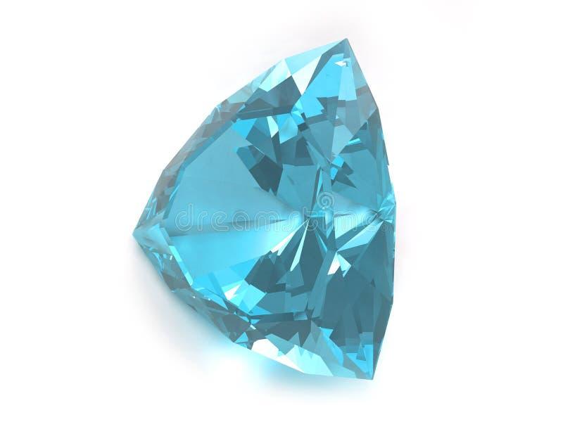 Pietra preziosa blu del topaz fotografia stock