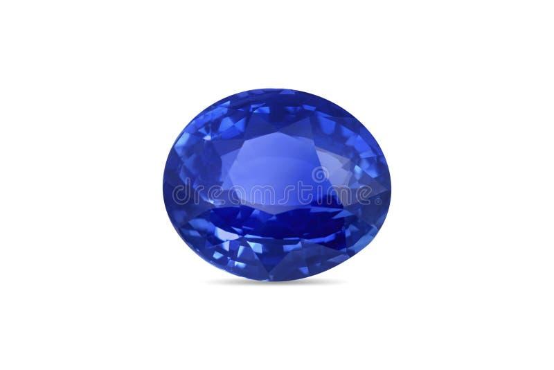 Pietra preziosa blu naturale dello zaffiro fotografie stock libere da diritti