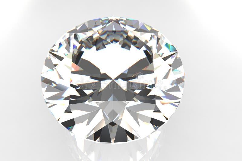 Pietra preziosa del diamante del taglio dell'europeo royalty illustrazione gratis