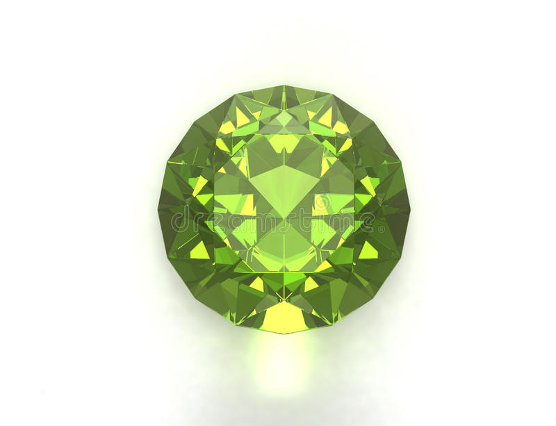 Pietra preziosa verde immagine stock