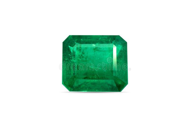Pietra preziosa verde smeraldo naturale immagini stock