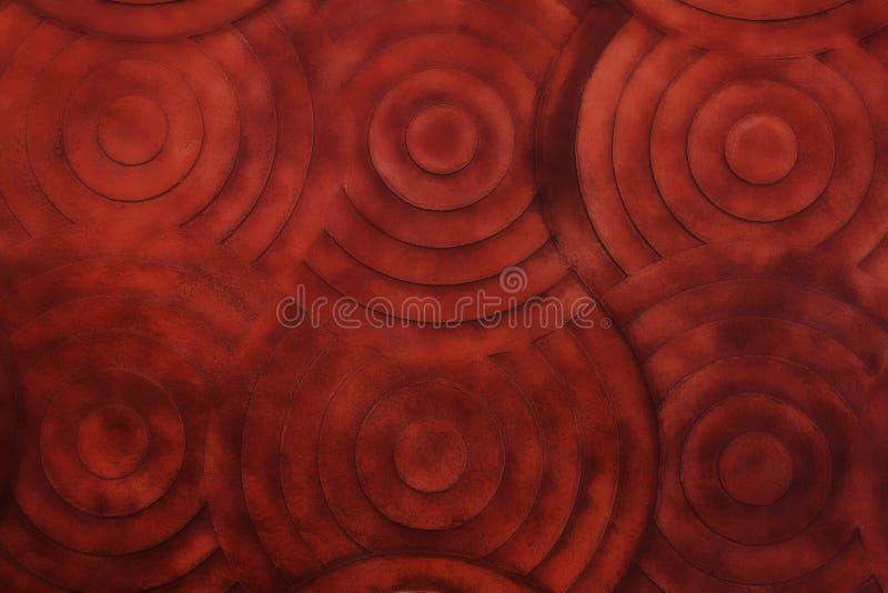 Pietra rossa di Brown con il fondo gaussiano Textur della parete del filtrante della sfuocatura illustrazione di stock