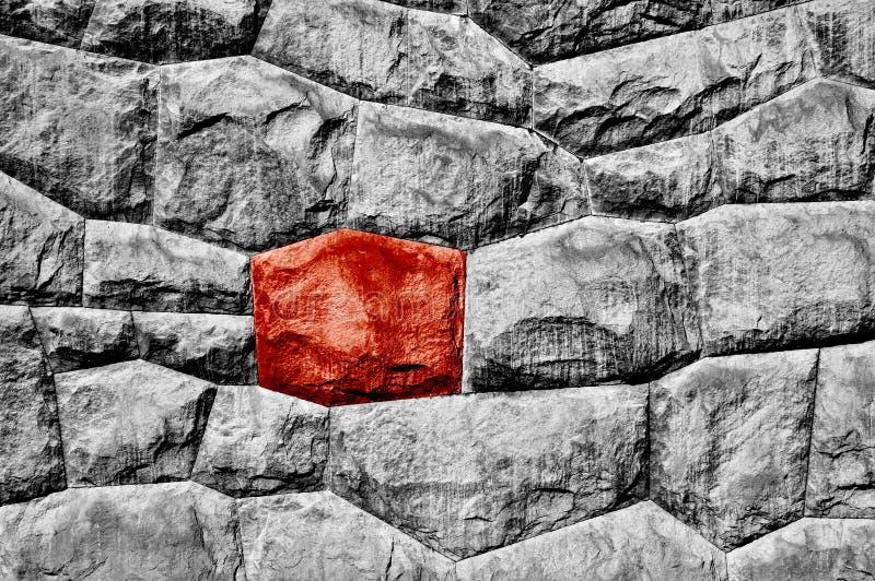 Pietra rossa dispari fotografia stock