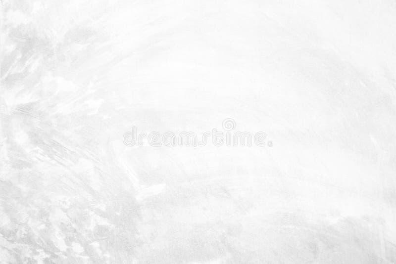Pietra ruvida pastello bianca concreta, di struttura del cemento della crepa parete dello stucco intonacata roccia; pavimento sol immagini stock libere da diritti