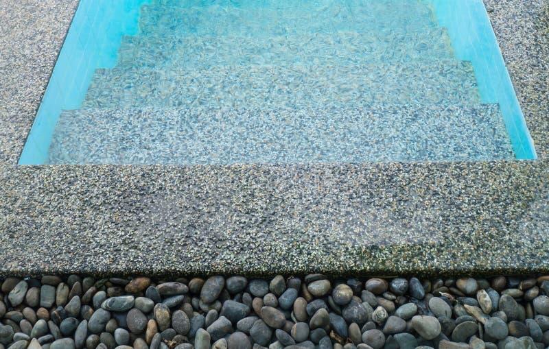 Pietra sull'orlo della piscina fotografia stock