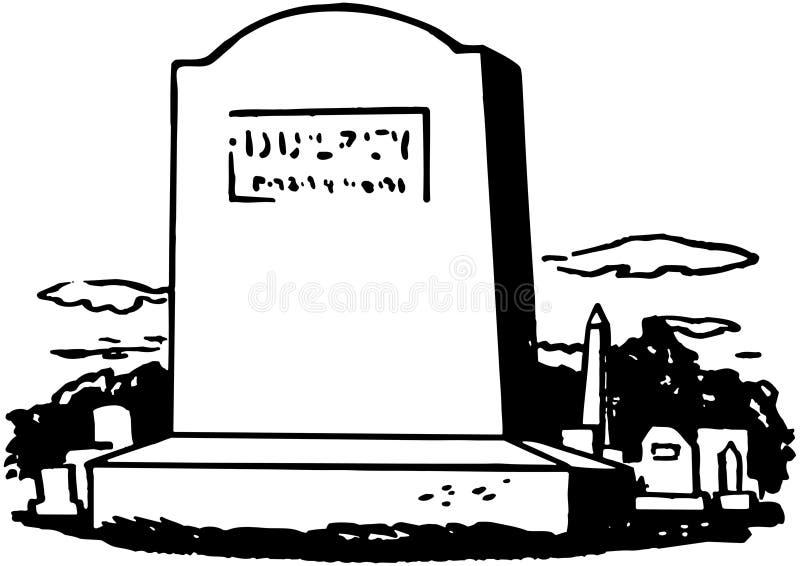 Pietra tombale 7 illustrazione di stock