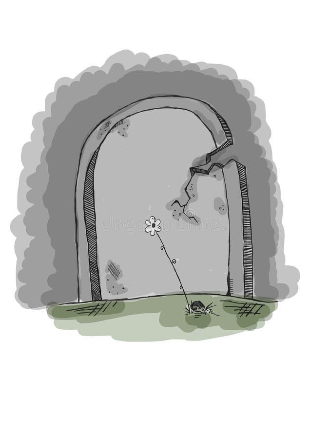 Pietra tombale di pietra in bianco royalty illustrazione gratis