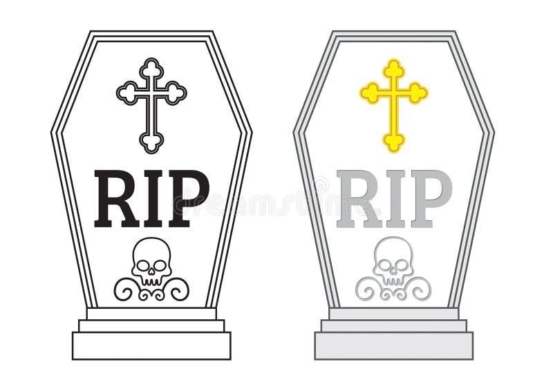 Pietra tombale di vettore illustrazione di stock