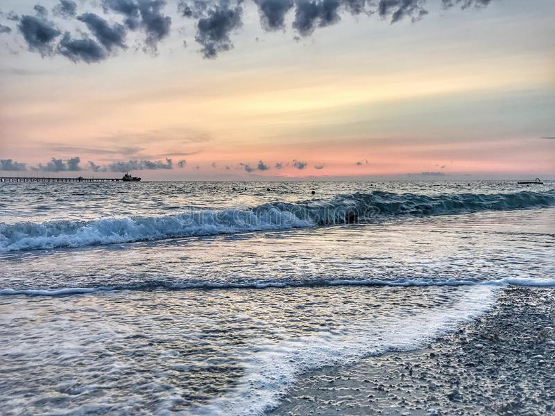 Pietrabianca-Strand stockfoto