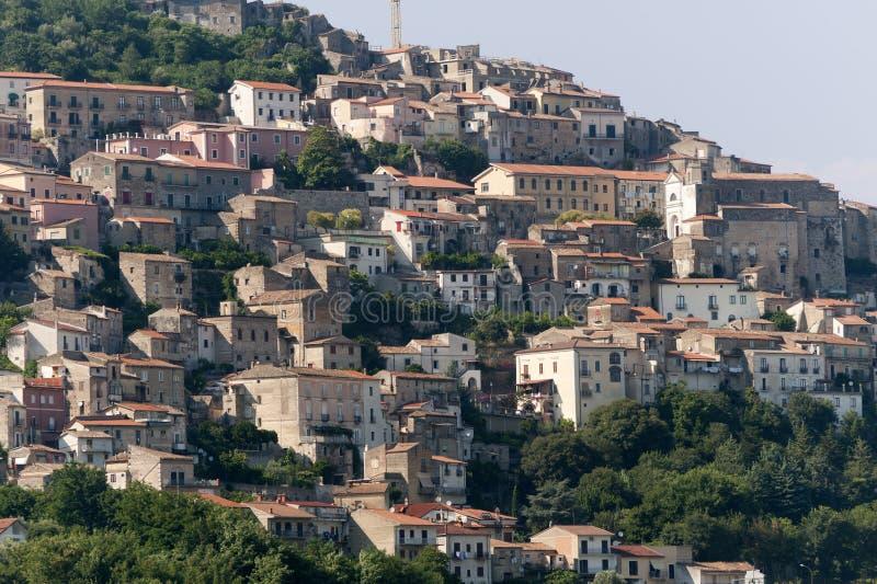 Pietravairano (Caserta Italia) - ciudad vieja fotos de archivo