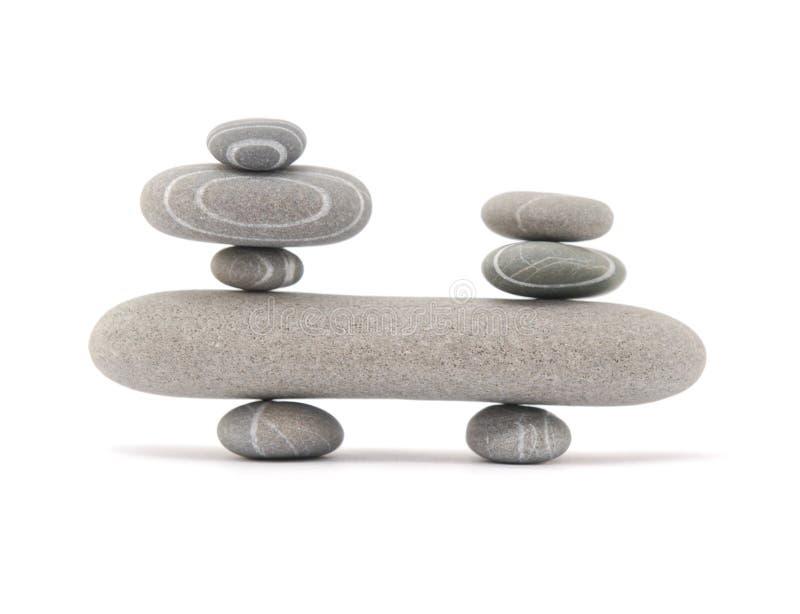 Pietre d'equilibratura immagini stock