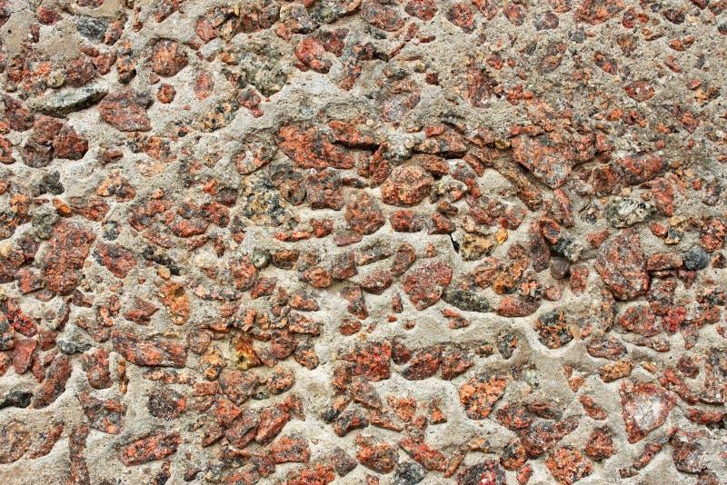 Pietre del granito in calcestruzzo immagine stock libera da diritti
