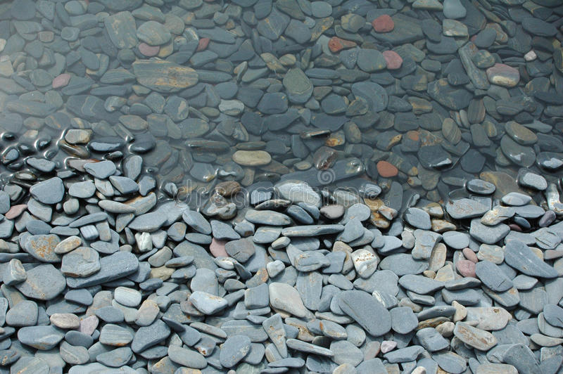 Pietre del lago fotografie stock