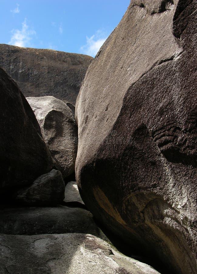 Pietre dell'isola di Gorda del Virgin fotografia stock