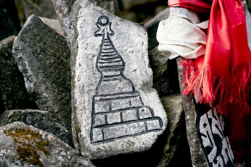 Pietre di Mani - piatti di pietra fotografie stock