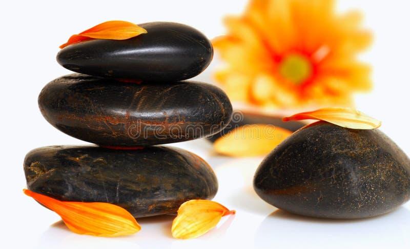 Pietre di massaggio immagini stock libere da diritti