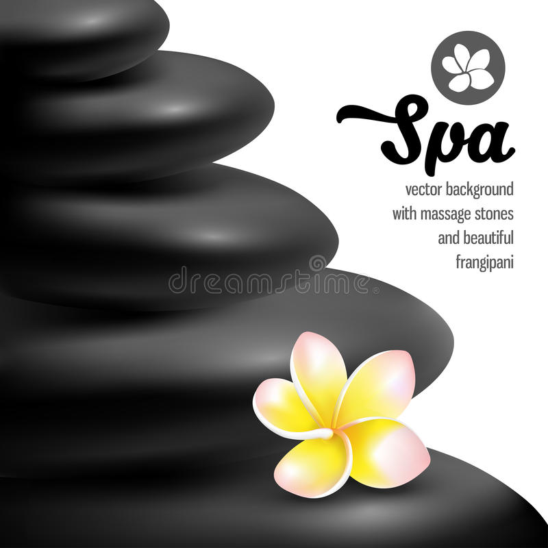 Pietre di massaggio della stazione termale royalty illustrazione gratis