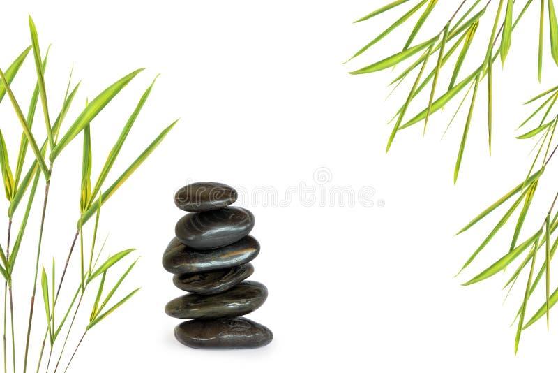 Pietre di massaggio della stazione termale fotografia stock
