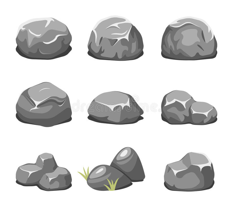 Pietre e vettore del fumetto delle rocce royalty illustrazione gratis