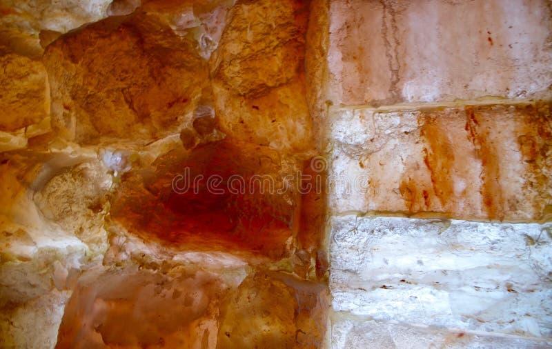 Pietre himalayane e mattoni del sale fotografia stock libera da diritti