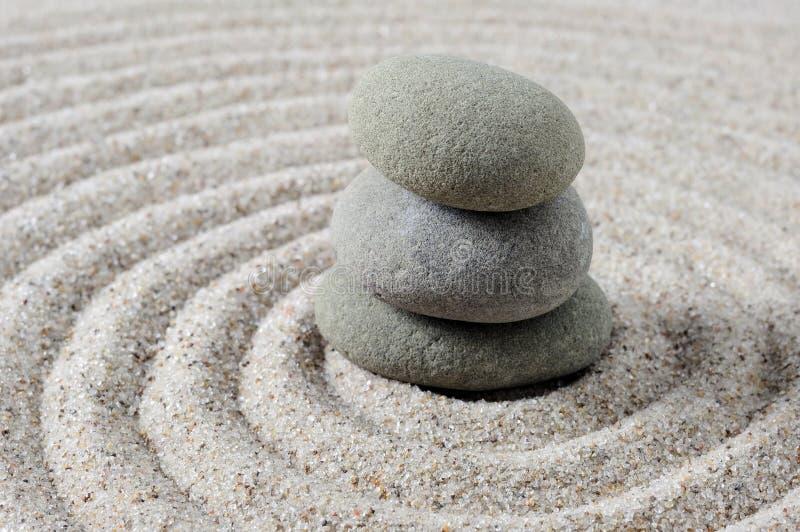 Pietre impilate di zen immagine stock