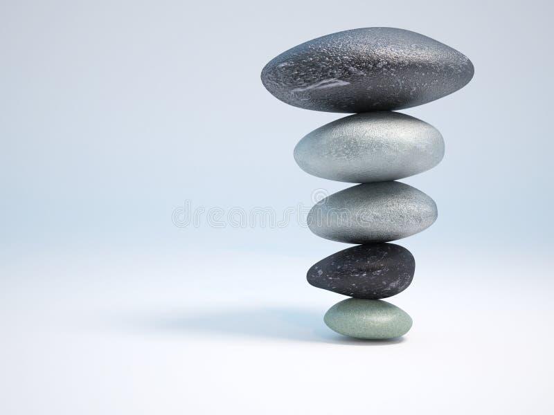 Pietre nei balans illustrazione vettoriale