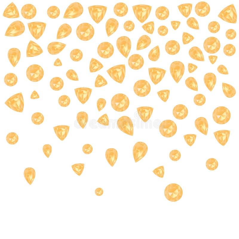 Pietre preziose gialle messe illustrazione di stock