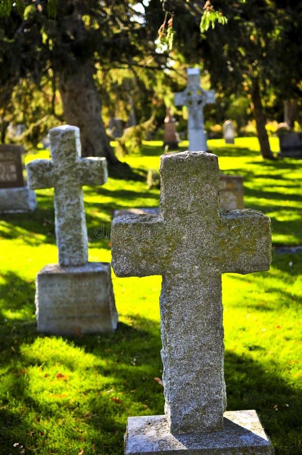 pietre tombali del cimitero immagine stock