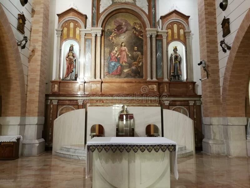 Pietrelcina - ołtarz Święta rodzina obrazy royalty free